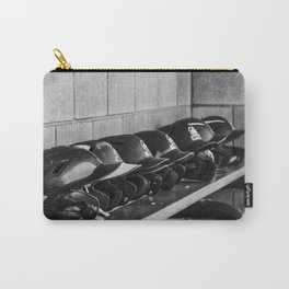 Helmets on a Bench Carry-All Pouch