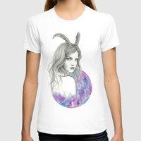 zodiac T-shirts featuring Zodiac - Capricorn by Simona Borstnar