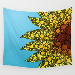 Sunflower in Abstract Form - Flower field - Autumn and summer collide - 57 Montgomery Ave Wall Tapestry