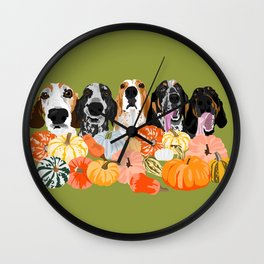 Coonhounds and Gourd Wall Clock