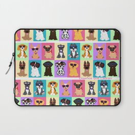 Doggi Breeds summer by Diseños que ladran Laptop Sleeve