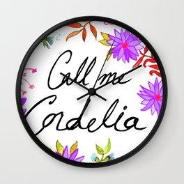 Call Me Cordelia - Purple Flowers Wall Clock