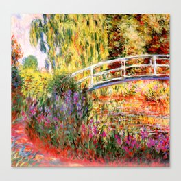 """Claude Monet """"Water lily pond, water irises"""" Canvas Print"""