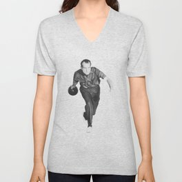 President Richard Nixon Bowling At The White House Unisex V-Neck