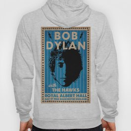Vintage 1966 Bob Dylan and The Hawks Royal Albert Hall Concert Poster Hoody