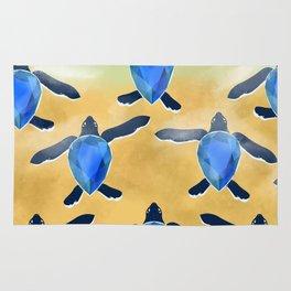 Leatherback sea turtle - Blue sapphire Rug