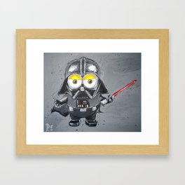 Darth Vader minion style Framed Art Print