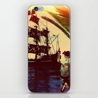 pirate ship iPhone & iPod Skins featuring pirate ship by Ancello