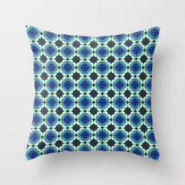 Retro Cornflower Throw Pillow