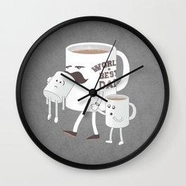Good Dads Drink Coffee Wall Clock