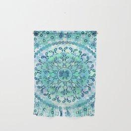 Aqua Mosaic Mandala Wall Hanging