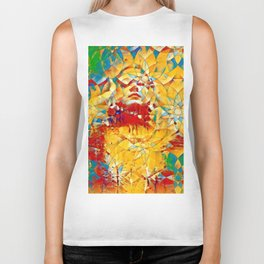 6759s-KMA The Woman in the Stained Glass Sensual Feminine Energy Emerging Biker Tank