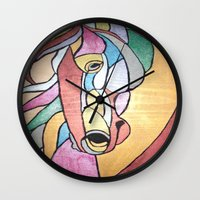 metallic Wall Clocks featuring Metallic Horse by J&C Creations