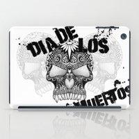 dia de los muertos iPad Cases featuring Dia De Los Muertos by Digi Treats 2