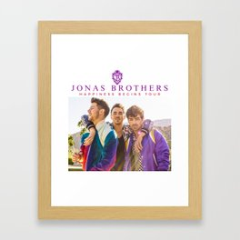 jonas brothers happiness begins tour 2019 nontongame Framed Art Print