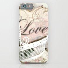 Shabby Chic Romantic Cottage Basket of Roses Love Heart Decor Slim Case iPhone 6s