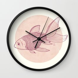 Lonely Goldfish Wall Clock