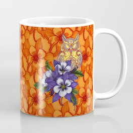 Columbine Paisley Owl Coffee Mug