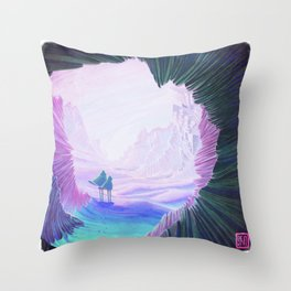 lost in the dunes Throw Pillow