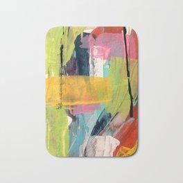 Hopeful[2] - a bright mixed media abstract piece Bath Mat