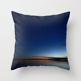 Orion over the horizon at dusk #1 Throw Pillow