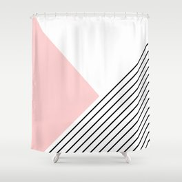 Pink angles and stripes Shower Curtain
