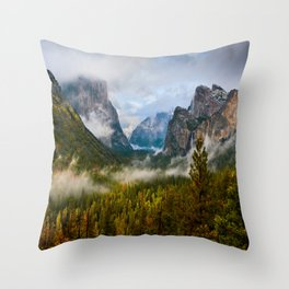 Yosemite National Park / Tunnel View  4/26/15 Throw Pillow