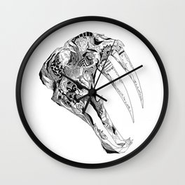 The Sabertooth Wall Clock