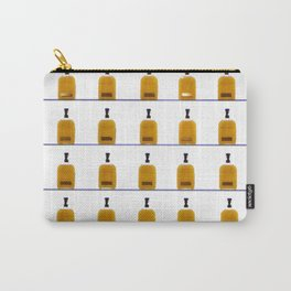 Glass Bourbon Bottles on Shelves Color Photograph Carry-All Pouch