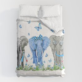 Three Elephants Diabetes Awareness - Elephants Diabetes T-Shirt Comforters