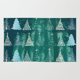 Christmas tree in the forest Rug