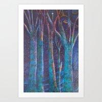Starlit Forest Art Print