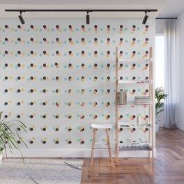 Abstract Painting Polka Dots Pattern Wall Mural