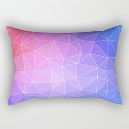 Abstract Colorful Flashy Geometric Triangulate Design Rectangular Pillow