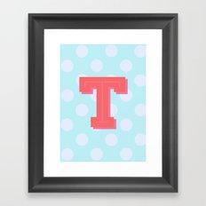 T is for Terrific Framed Art Print