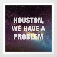 houston Art Prints featuring Houston by Text Guy