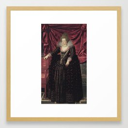 FRANS POURBUS el Joven (Amberes, Bélgica, 1569-París, 1622) Retrato de doña María de Médicis Framed Art Print