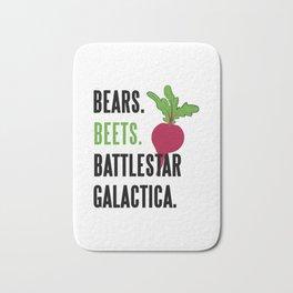 Bears Beets Battlestar Galactica Funny Bath Mat