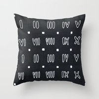 roman Throw Pillows featuring Roman Numerals by waggytailspetportraits