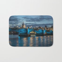 St Paul's Cathedral at Night Bath Mat