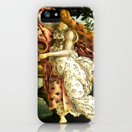 "Sandro Botticelli ""The Birth of Venus"" detail - The Hora holding out a cloak for Venus iPhone Case"