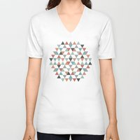 hexagon V-neck T-shirts featuring Hexagon by Pavel Saksin