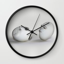 Cracked Egg & a Wink Wall Clock