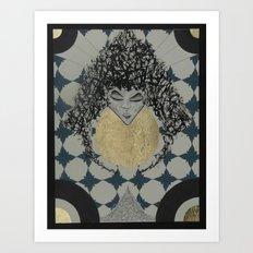 Lady. Art Print