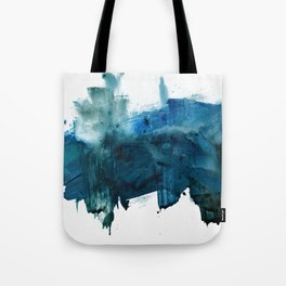 Change: A minimal abstract acrylic painting in blue and green by Alyssa Hamilton Art Tote Bag