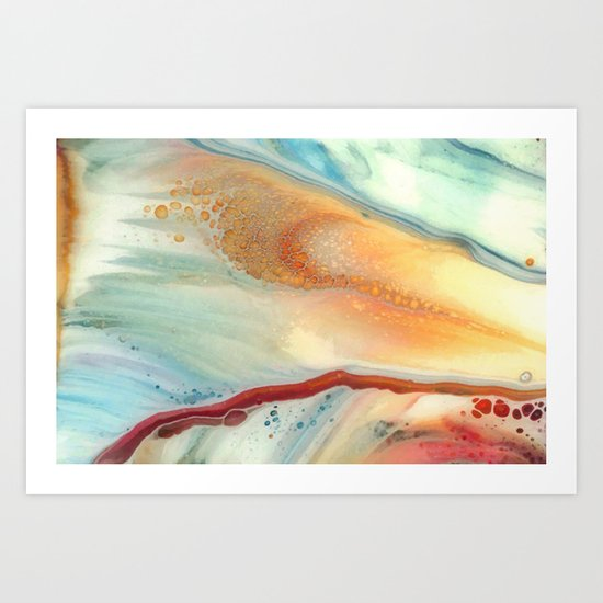 Colorful abstraction Art Print