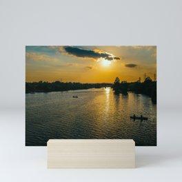 Sunset at Austin Townlake Mini Art Print