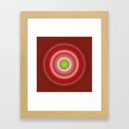Beetroot Pink Circles Framed Art Print