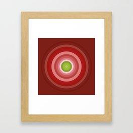 Beetroot Pink Circles Framed Art Print