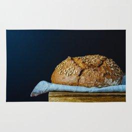 Sunflower Seeds Sourdough Bread on a Table Rug